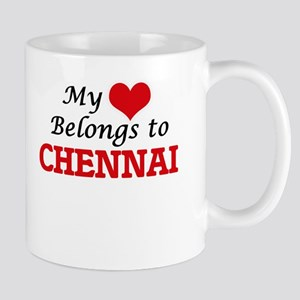 My heart belongs to Chennai India Mugs